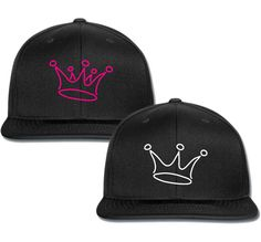 0d473f943a7 king for him for her couple matching snapback cap