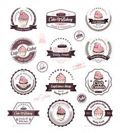 Cupcakes Vintage Labels