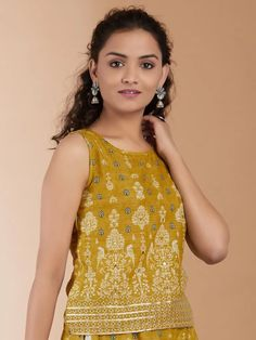 Indian Natural Beauty, Yellow Print, Cotton Skirt, Western Wear, Kurtis, Printed Cotton, Loom, Clothes For Women, Clothing