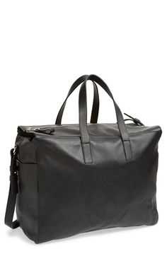 Men's Alexander McQueen Perforated Skull Duffel Bag - Black