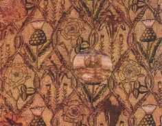 Tapestry embroidered by Mary, Queen of Scots while in captivity.  http://www.marileecody.com/maryqosimages.html