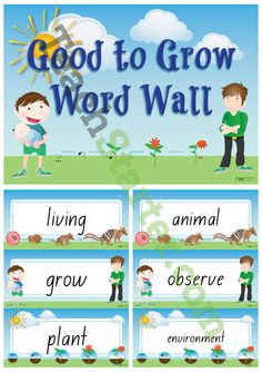 Good to Grow – Science Word Wall Vocabulary Teaching Resource