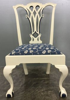 White Painted Chippendale Dining Chairs   Set Of 6 | White Dining Chairs |  Pinterest | Dining Chair Set, White Paints And Dining Chairs