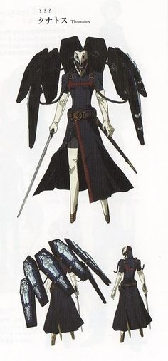 Concept artwork of Thanatos in Persona 3 The Movie