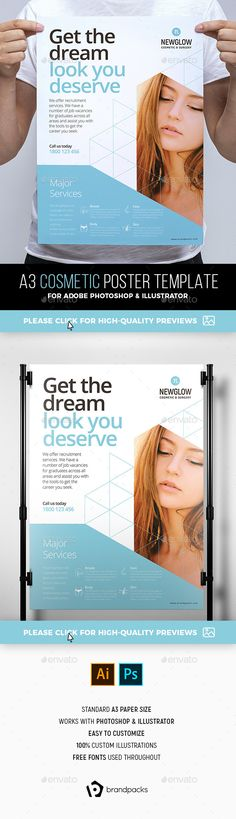 Cosmetic Poster Template