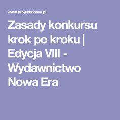 Zasady konkursu krok po kroku | Edycja VIII - Wydawnictwo Nowa Era