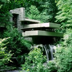 Hard to ever go past Frank Lloyd Wright's iconic Fallingwater.