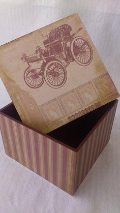 Caixa Vintagem MDF Encomendas: narachris@yahoo.com.br www.facebook.com/aespacounico