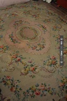 Large 12ft Vintage 1940's/50's floral rug roses pink Rachel Ashwell shabby chic | eBay