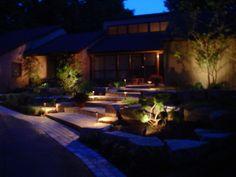 Искусственное освещение участка | Современный дом