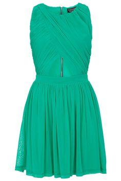 Wrap Mesh Skater Dress - Dresses - Clothing - Topshop USA
