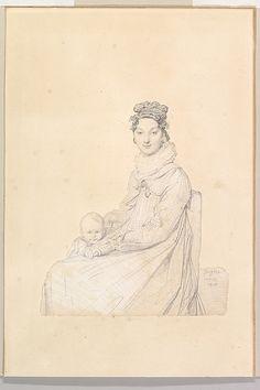 Madame Alexandre Lethière, née Rosa Meli, and Her Daughter, Letizia Jean Auguste Dominique Ingres (French, Montauban 1780–1867 Paris) Date: ...