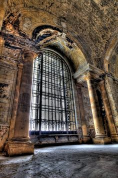 Michigan Central Station - Front Window.  Love these photos - taken by Geoff Brown of GVB fine art.  Have one in my bathroom already and a few more picked out to have made
