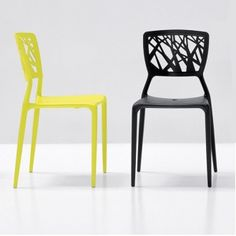 Viento stackable chair made of polypropylene with perforated back