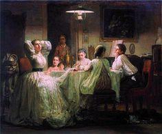 """В. М. Максимов """"Шитье приданного"""" (1866 год)"""
