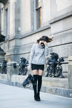 Casual Late Summer :: Funnel neck sweatshirt & Tall boots | Wendy's Lookbook | Bloglovin'