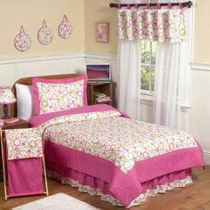 Mod Circles Pink & Green Bedding by Sweet Jojo Designs - Childrens Twin Bedding - circles-pk-twin-4----------kassidy