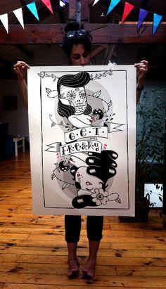 Amaia Arrazola Illustration. Me recuerda a Calaveritas...