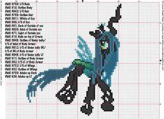 Queen Changeling Cross Stitch Pattern by ~AgentLiri on deviantART