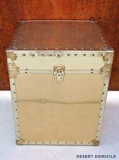 Vintage Brass Trunk #vintage #trunk