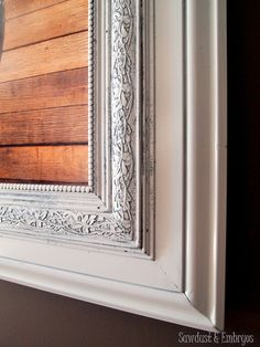 Build your own custom picture frame by layering pieces of trim! {Sawdust and Embryos}