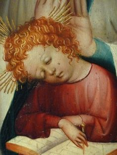 "AUTRICHE 15e - La Vierge à l'Enfant à l'Ecritoire (Louvre) - Detail 056  -  TAGS/ details détail détails detalles painting peintures ""peinture 15e"" ""15th-century paintings"" people Virgin Madonna Madone ""Holy Spirit"" ""Esprit saint"" people woman women ""jeune femme"" ange angel pose model portrait portraits face faces visage femme Jésus Jesus boy ""little boy"" Child ""little boy"" ""petit garçon"" portrait kid kids trône throne Museum Paris Austria ""writing box"" ""Moyen Âge"" ""Middle age"" lesson leçon"