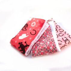 Cowgirl Burp Cloths  Cowboy Pink Brown by Sewingdreamsnotions,