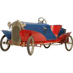 *FRENCH EUREKA MFG. ~ Boattail Fiat Pedal Car Antiques on Old Plank Road,  4500 dollars