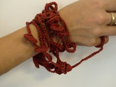 Red wine.100percent Cotton...............Necklace / by AnnaLela, $12.00