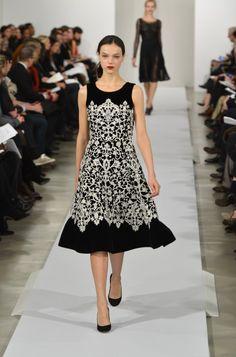 Black & White Perfection. Oscar De La Renta - Runway - Fall 2013 Mercedes-Benz Fashion Week