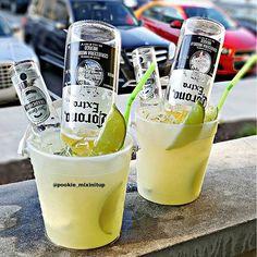 Beach Bucket Margarita Jose Quervo Tequila, Dekuyper Triple Sec, Margarita Mix, a Corona Beer ...