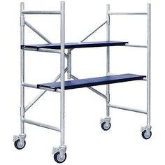Multipurpose Scaffolding Mini Scaffold Step Ladder Push Cart Work Table Platform