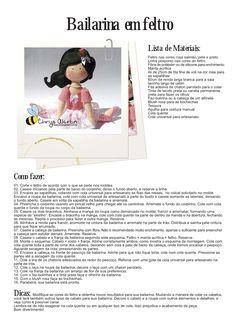 felt ballerina doll no so cute Ballerina Doll, Ballerina Party, Felted Wool Crafts, Felt Crafts, Felt Patterns, Craft Patterns, Postar No Face, Felt Templates, Softie Pattern