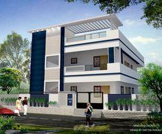 Srinivas garu-1 House Outside Design, House Front Design, Small House Design, Modern House Design, Single Floor House Design, Duplex House Design, Duplex House Plans, Exterior House Siding, Dream House Exterior