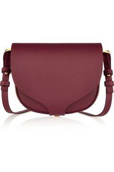 Sweater Dressed: Sophie Hulme mini leather shoulder bag / Garance Doré