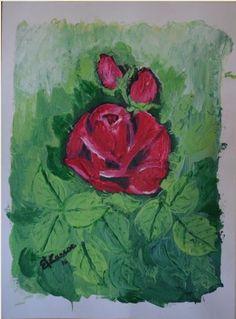 ROSA E BOCCIOLI  - a spatola acrilic on canvas - feb 2016 - 18x24
