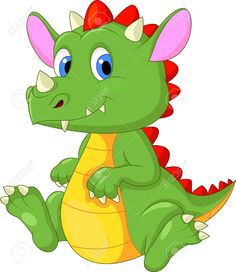Cute Baby Dragon Cartoon Royalty Free Cliparts, Vectors, And Stock Illustration. Pic 20219405.