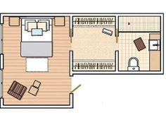 Risultati immagini per plano dormitorio con baño en suite Master Bedroom Plans, Master Bedroom Layout, Bedroom Floor Plans, Master Room, Bedroom Layouts, Home Bedroom, Bedrooms, Bedroom Designs For Couples, Room Planning