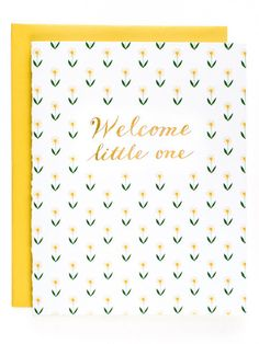 Welcome Little One - Floral Foil Card