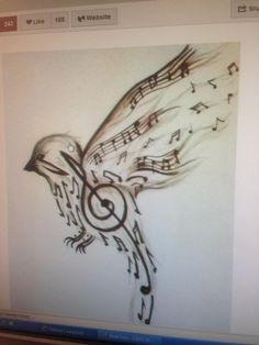 Ink idea | music tattoos | artsy tattoos | music note tattoo | shoulder tattoo | tattoo illustration | nature tattoo | tattoo ideas | tattoo inspiration | tattoo idea