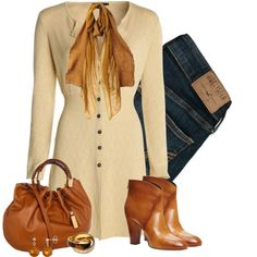 Button Cardigan, created by barbarapoole on Polyvore