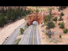 Red Canyon - Scenic Byway 12 - Aerial Views - 60 Second Video Montage - Utah's All American Road. - YouTube Famous Outlaws, The Wild Bunch, Mountain Trails, Bryce Canyon, Road Trippin, National Forest, Aerial View, Utah, Places To Go