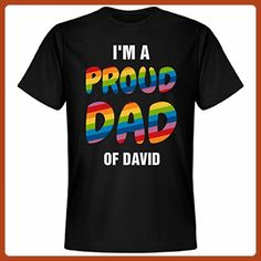 Gay Pride Proud Dad Of David: Unisex Next Level Premium T-Shirt - Relatives and family shirts (*Partner-Link)