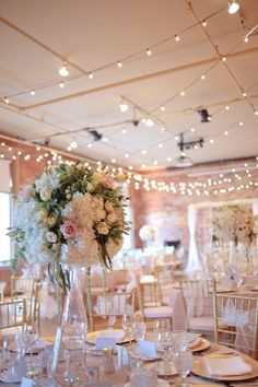 Chic elegant wedding reception idea; photo: Tied Photography