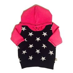 ✨ Ships in just 1 business day for ONLY $7 ✨    Hoodie in very soft cotton Jersey. Pink sleeves and hat. Black with white stars in front and on the back.    Size 62 - 98 cm / 2 m - 2 y   Shop this product here: spree.to/bdrb   Shop all of our products at http://spreesy.com/angelface      Pinterest selling powered by Spreesy.com