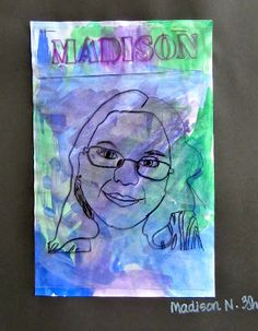Layered Self Portraits - cool idea!