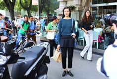 Street Style: Milan Fashion Week Spring 2015 – Vogue Fei Fei Sun Photographed by Phil Oh