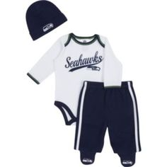 Seattle Seahawks Bodysuit & Footed Pants Set - Baby