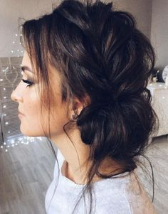 messy chic bridesmaid bun
