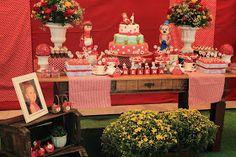 Cenário festas: Chapeuzinho Vermelho para a Helena